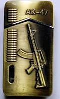 Зажигалка карманная АК-47 (турбо пламя)