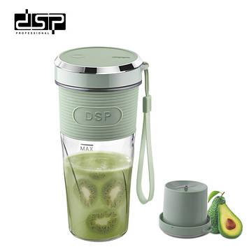 Портативный блендер-шейкер DPS KJ2087 для смузи и коктейлей (350мл)