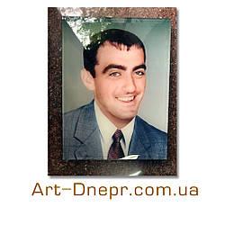 Портрет в стекле на памятник. 180х240 мм.