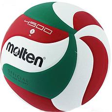 Мяч волейбольный Molten 4500-1 PU, белый/красный/зеленый.