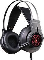 Наушники с микрофоном проводные A4Tech Bloody G430 USB 2*3.5мм(3) каб.1.8 м чёрный с подсв. новые