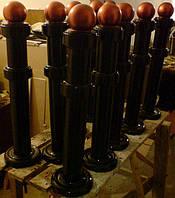 Столбик ограды декоративный металлический