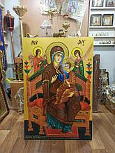 Рукописная икона Пресвятой Богородицы 120*80см (спецзаказ)