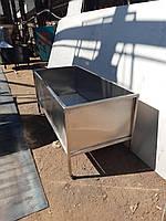 Ванна моечная из нержавеющей стали односекционная 800х800