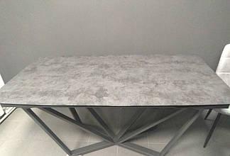 Стол Harbor Iron Grey (Харбор Айрон Грей) серый 160/240 от Concepto, глазурованное стекло