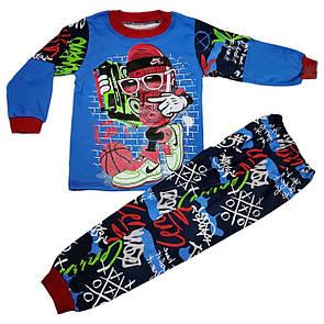 Стильна дитяча піжама з принтом для хлопчика інтерлок-піньє