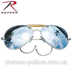 Окуляри Авіатор дзеркальні оправа з круглими дужками Air Force ROTHCO США