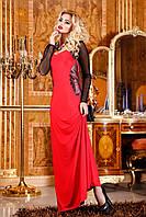Вечернее длинное красное платье Seventeen 44-48 размеры
