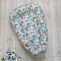 Гнездо-кокон для новорожденного 85Х40 см (подушка для беременной, подушка для кормления), цвет на выбор