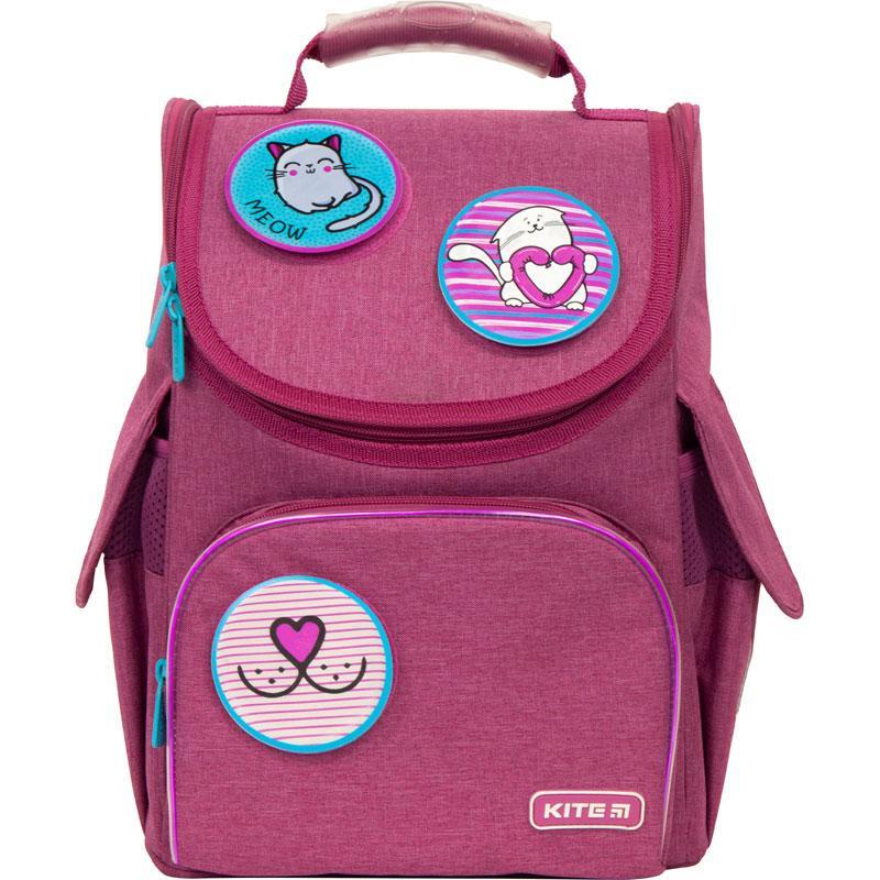 Рюкзак шкільний каркасний Kite Education Meow K21-501S-6 (LED) ранець ортопедичний