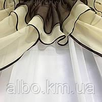 Ламбрекен для залу з шифону ALBO 300x100 cm Коричневий (LK3-14), фото 5