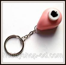 Дырокол Яблоко 1 см кнопка Брелок