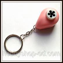 Дырокол Цветок 1 см кнопка Брелок