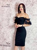 Жіноче плаття міді з щільного трикотажу Poliit 8811