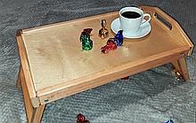 Столик для завтрака деревянный 52×32 см Ольха светло-коричневый
