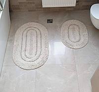 Набор ковриков  COTTON WAY  50х60 и 60х100 (TM Zeron) молочный, Турция, фото 1