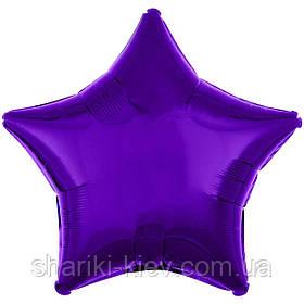 Шар Звезда фольгированная с гелием на День Рождения, юбилей Фиолетовый металлик