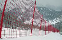 Сетка защитная оградительная для горнолыжных трасс, яч. 100х100мм, нить 3,5мм, полиэтилен
