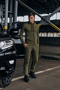 Костюм мужской спортивный Cosmo хаки Кофта толстовка и штаны плюс Подарок SKL59-261312