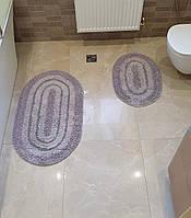 Набір килимків COTTON WAY 50х60 і 60х100 (TM Zeron) сірий, Туреччина, фото 1
