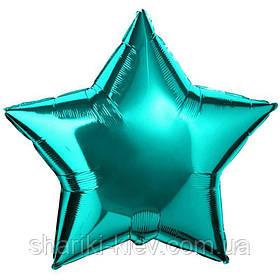 Шар Звезда фольгированная с гелием на День Рождения, юбилей Тиффани