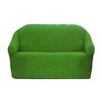 Накидка на диван №20 зеленая стильная и практичная накидка на диван, фото 2