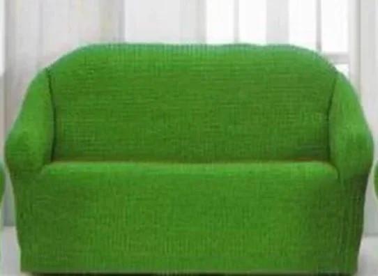 Накидка на диван №20 зеленая стильная и практичная накидка на диван