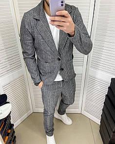 Классический Мужской костюм grey 54
