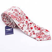 Новогодний галстук из 100% хлопка, фото 1
