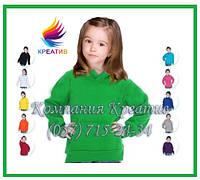 Детские флис кофты с капюшоном для спорта с вашим логотипом (под заказ от 50 ед.), фото 1