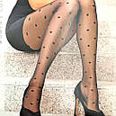 Крупный горошек колготки женские Conte Desire с узором 20 Den, фото 5