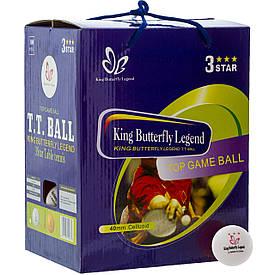 Набір тенісних кульок (100 шт ) Butterfly *** білі MT-8396