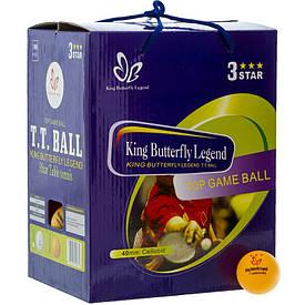 Набір тенісних кульок (100 шт ) Butterfly *** помаранчеві MT-8396