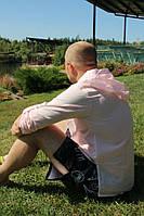 Тонка чоловіча сорочка з капюшоном з батисту. ХС-12ХЛ. Колір в асортименті