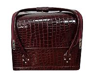 Косметичка чемодан для косметики, Beauty органайзер АР.2700 бордовый
