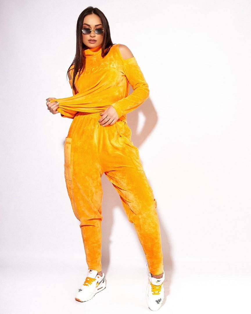 Жіночий велюровий костюм великого розміру.Розміри:46/48,50,52,54,56+Кольори