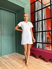 """Медицинский халат (платье) """"Милка """". Белый. Рукав короткий. Satal, фото 2"""