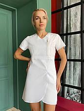 """Медицинский халат (платье) """"Милка """". Белый. Рукав короткий. Satal, фото 3"""