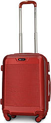 Чемодан пластиковый на 4х колесах малый S красный   23х55х37 см   3.150 кг   35 л   FLY 1093