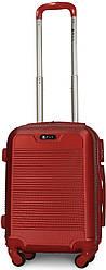 Чемодан пластиковый на 4х колесах мини XS красный   20х51х35 см   2.400 кг   27 л   FLY 1093