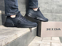 Кросівки шкіряні чоловічі Мзс 111593 сін розміри 40,41,42,43,44,45, фото 1