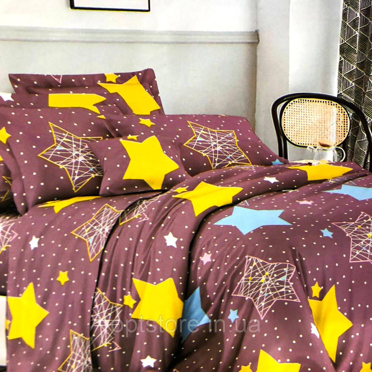 """""""звезды"""" постельное белье 3D эффект 145/210 см, нав-ки 70/70 см"""