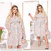Сукня сорочкового стилю, розкльошені квітковий принт креп-шифон 48,50,52, фото 2