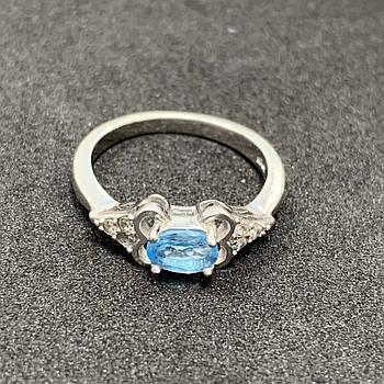 Серебряное кольцо БУ 925 пробы, размер 17. Вес - 2,29. Серебряные изделия бу в Украине