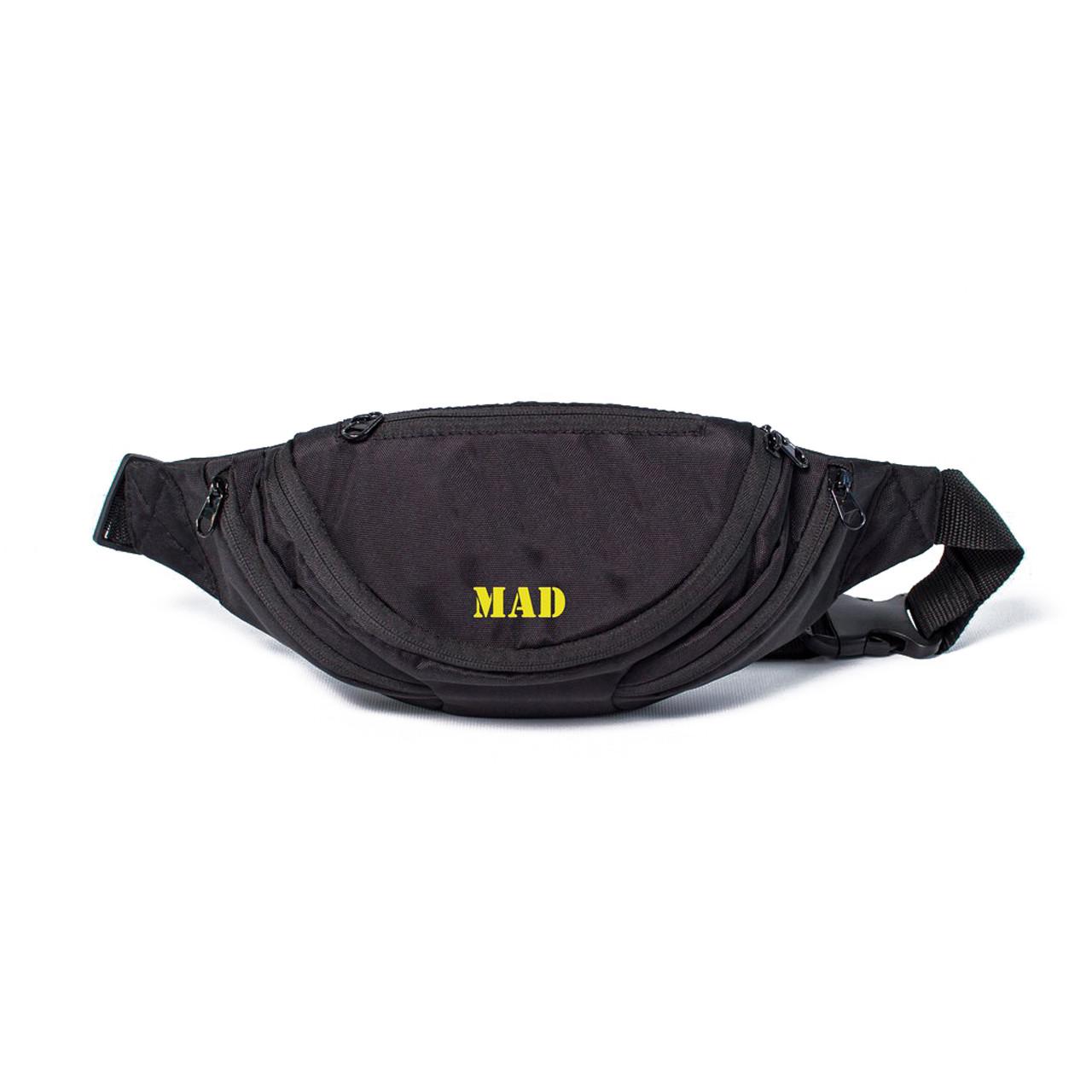 Поясная сумка Shark черно-желтая от MAD | born to win