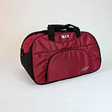 Женская спортивная сумка BLAZE бордовая от MAD | born to win™, фото 6