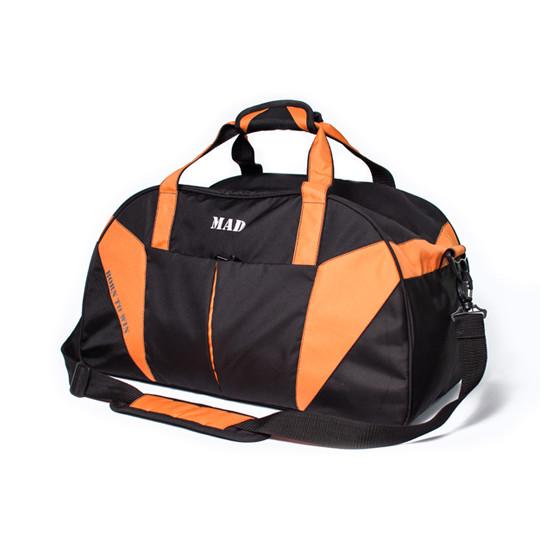 Спортивная сумка с карманом для обуви 42L Cross Porter черный с оранжевым от MAD