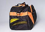 Спортивная сумка с карманом для обуви 42L Cross Porter черный с оранжевым от MAD, фото 2