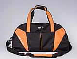 Спортивная сумка с карманом для обуви 42L Cross Porter черный с оранжевым от MAD, фото 3