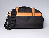 Спортивная сумка с карманом для обуви 42L Cross Porter черный с оранжевым от MAD, фото 4